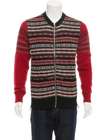 Comme des Garçons Patterned Wool Sweater None