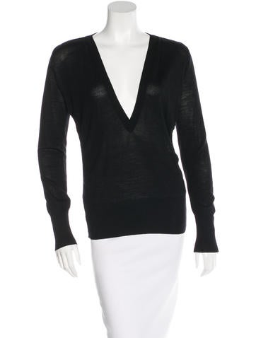 Costume National V-Neck Wool Sweater None