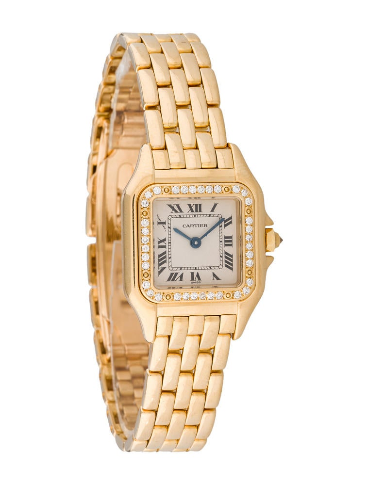 Cartier Gold Panthere Watch Cartier 18k Gold Mini Panthère