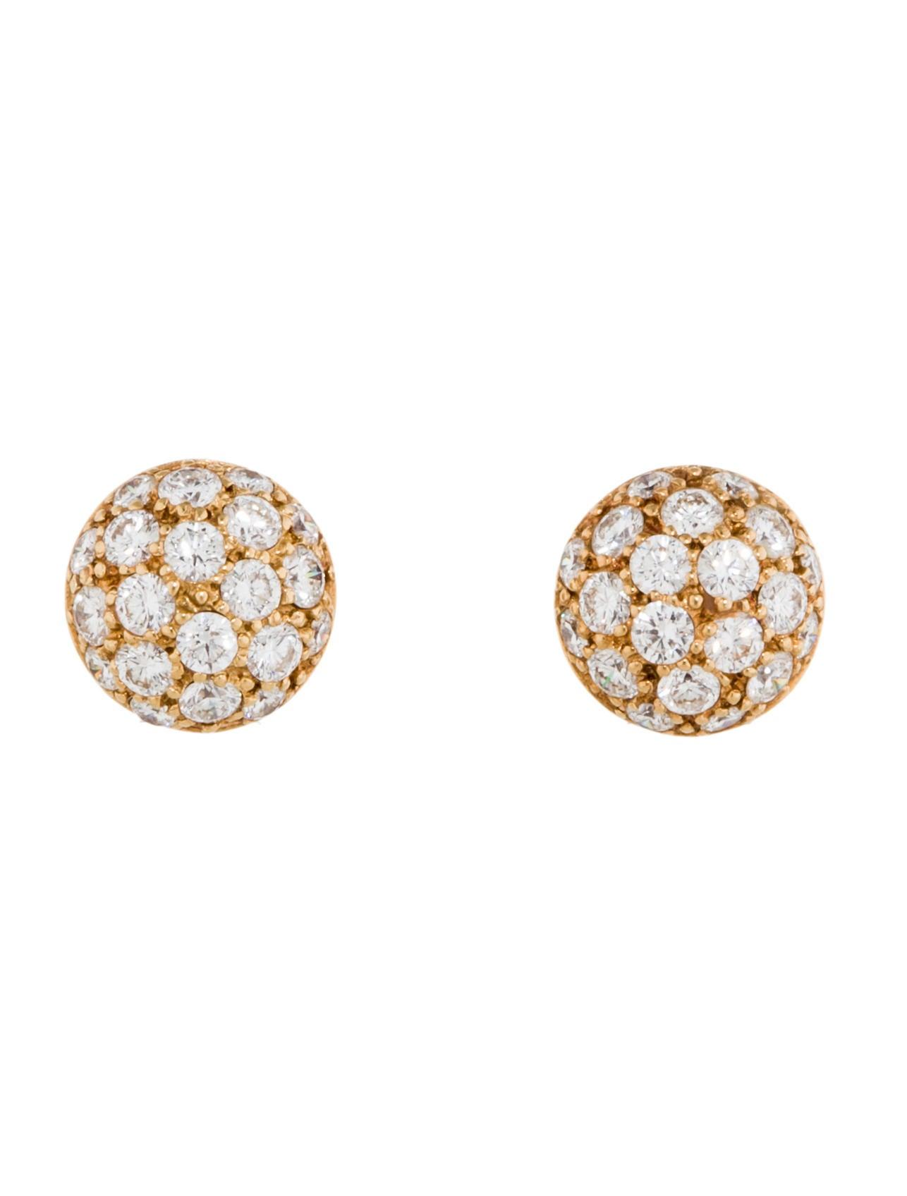 Cartier Earrings Studs Cartier Pavé Diamond Stud