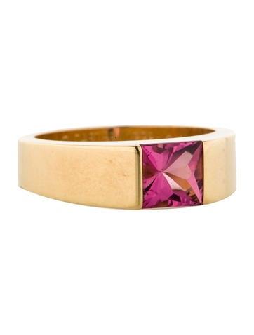Cartier Pink Tourmaline Tank Ring