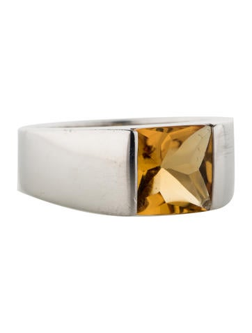 Cartier Citrine Large Tank Ring
