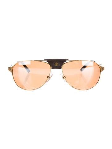 cartier sunglasses santos ls2h  Cartier Santos Dumont Sunglasses Aviator