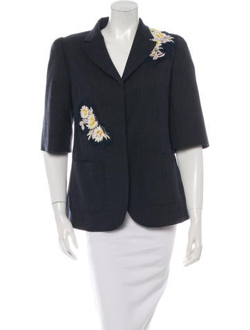 Creatures of the Wind Embellished Wool Blazer None