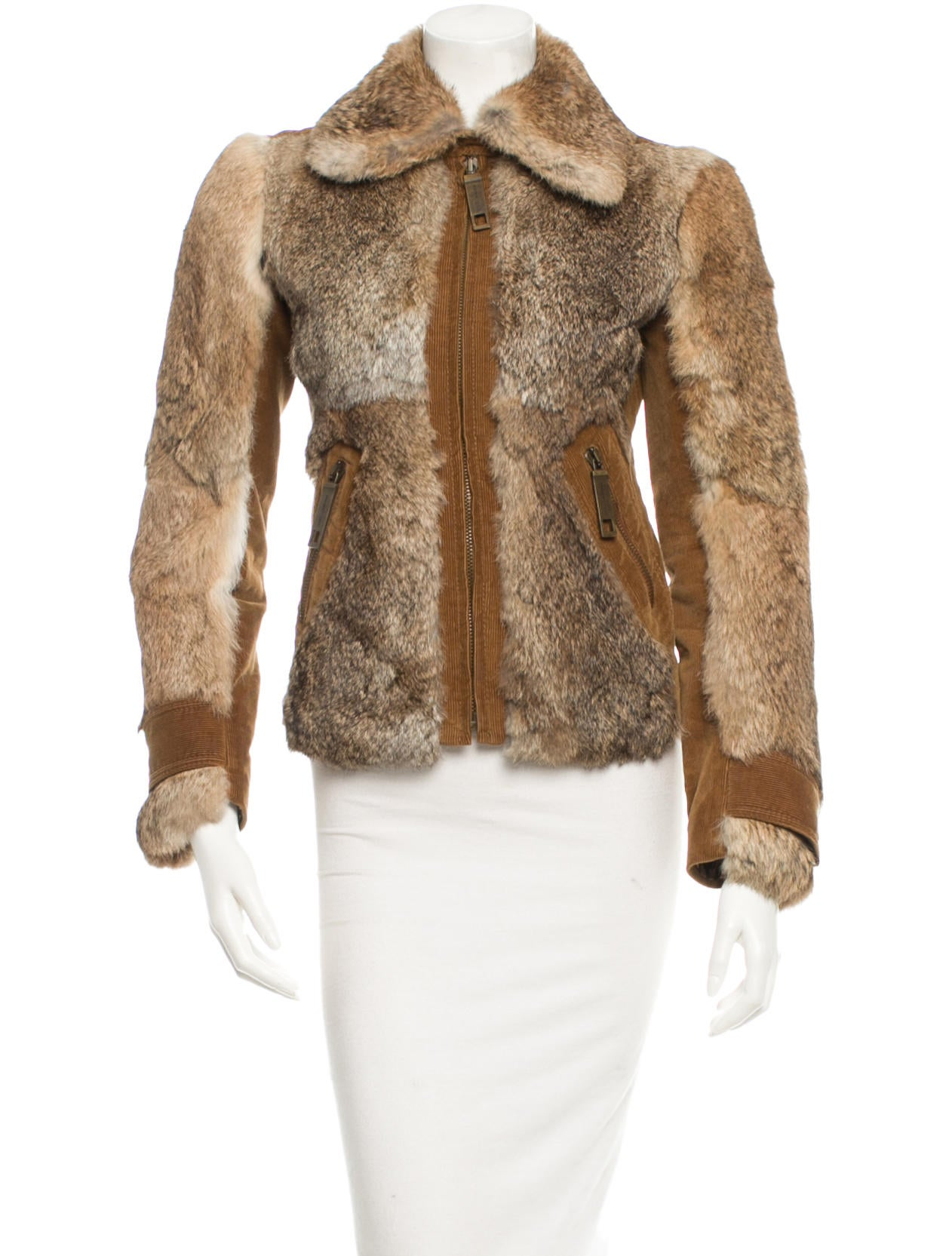 dolce gabbana fur jacket clothing dag39396 the realreal. Black Bedroom Furniture Sets. Home Design Ideas