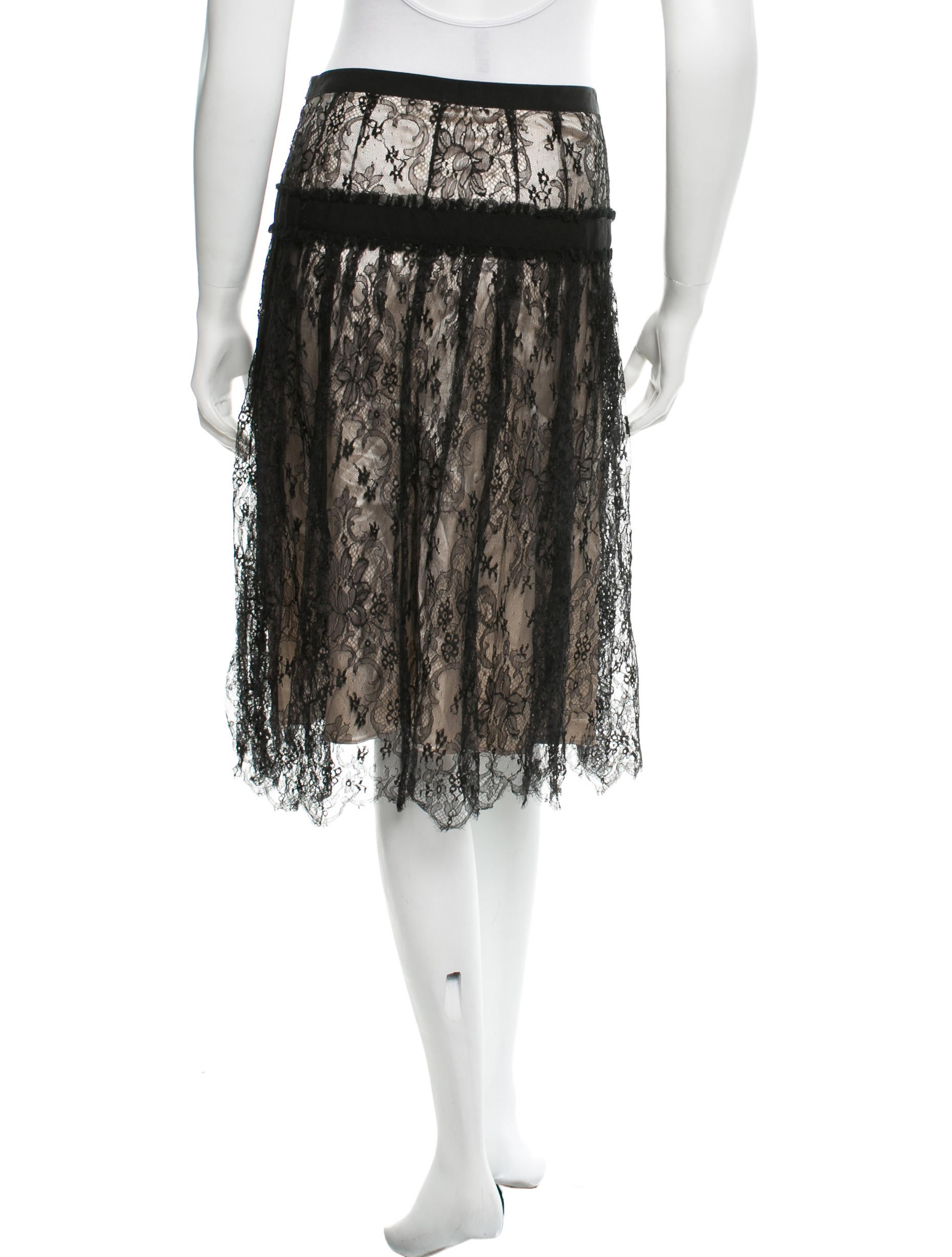 dolce gabbana lace a line skirt clothing dag44207