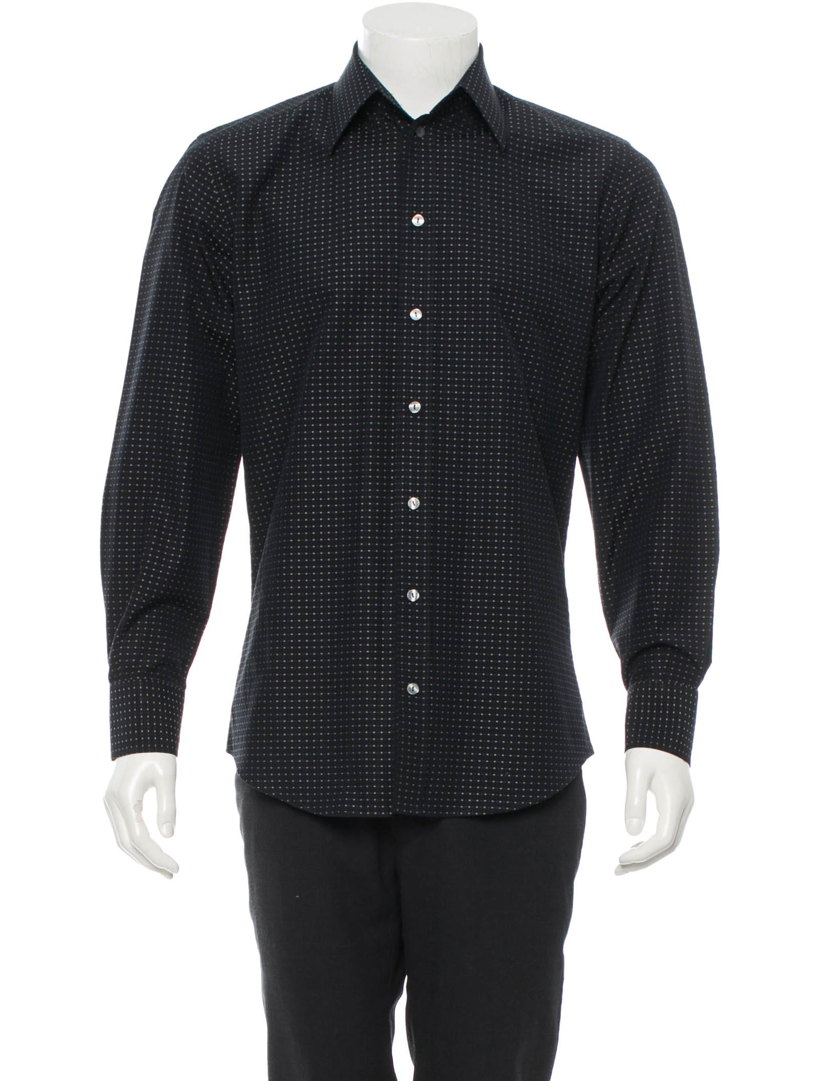 Dolce gabbana tailored fit button up shirt mens shirts for Fitted button up shirts mens