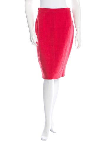 Dolce & Gabbana Basketweave Knee-Length Skirt w/ Tags