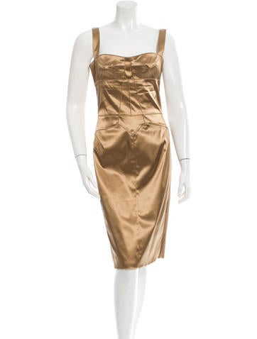 Dolce & Gabbana Gold Knee-Length Dress