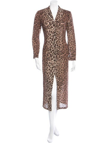 Dolce & Gabbana Leopard-Printed Long Sleeve Dress