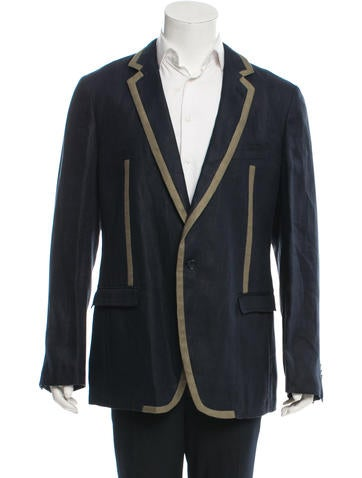 Dolce & Gabbana Linen Single-Button Blazer w/ Tags None