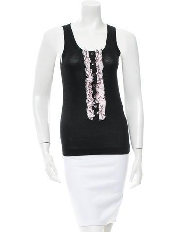 Dolce & Gabbana Sleeveless Ruffled Top None