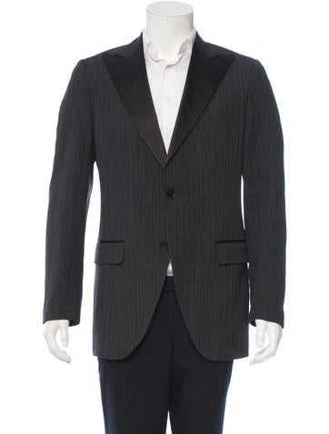 Dolce & Gabbana Striped Wool Blazer