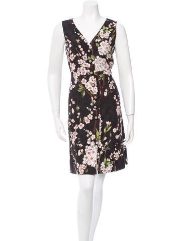 Dolce & Gabbana Embellished Almond Blossom Dress