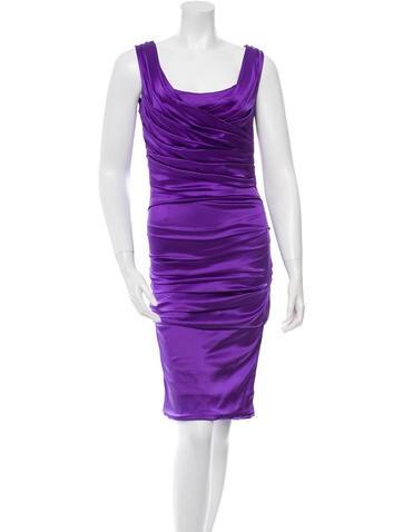 Dolce & Gabbana Silk Pleated Dress