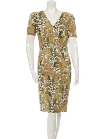 Dolce & Gabbana Printed Sheath Dress w/ Tags