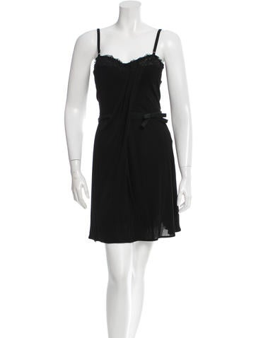 Dolce & Gabbana Lace-Trimmed Sleeveless Dress w/ Tags None