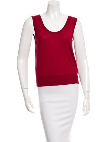 Dolce & Gabbana Sleeveless Cashmere Top None