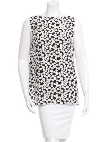 Dolce & Gabbana Silk Printed Top w/ Tags None