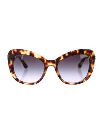 Dolce & Gabbana Oversize Garden Flower Cat-Eye Sunglasses