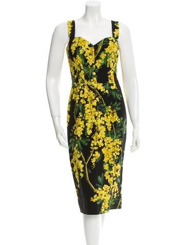 Dolce & Gabbana Mimosa Print Sleeveless Dress w/ Tags
