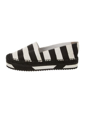 Dolce & Gabbana Striped Espadrille Flats