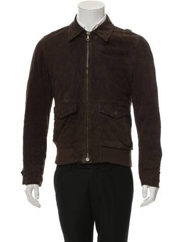 Dolce & Gabbana Suede Zip-Up Jacket
