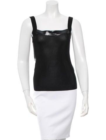 Dolce & Gabbana Sleeveless Rib Knit Top None