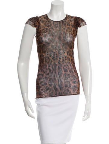 Dolce & Gabbana Silk Leopard Print Top w/ Tags None