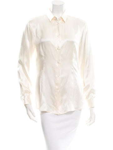 Dolce & Gabbana Silk Long Sleeve Top None