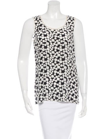 Dolce & Gabbana Silk Dot Print Top None