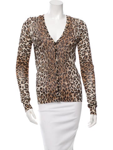Dolce & Gabbana Printed Button-Up Cardigan None