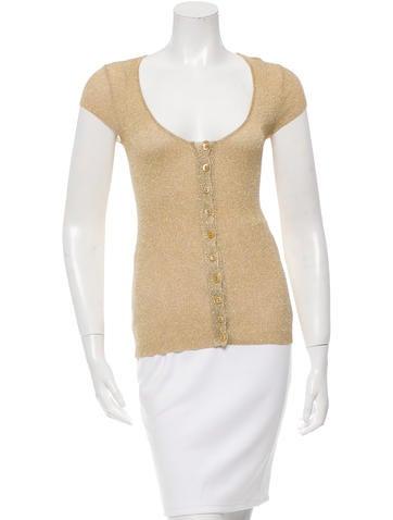 Dolce & Gabbana Cap Sleeve Button-Up Top None