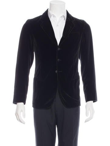 Dolce & Gabbana Velvet Notch Lapel Blazer None