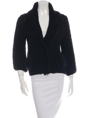 Dolce & Gabbana Open Knit Collared Cardigan None