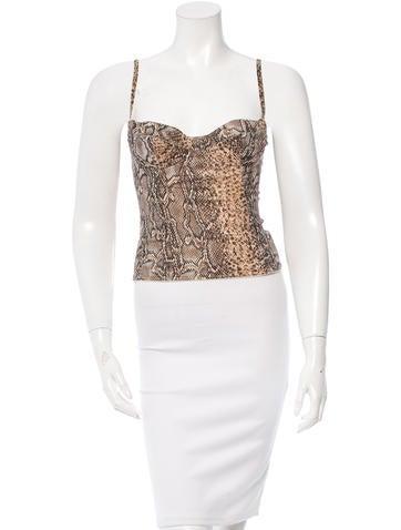 Dolce & Gabbana Silk Bustier Top None