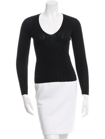 Dolce & Gabbana Wool Long Sleeve Top None