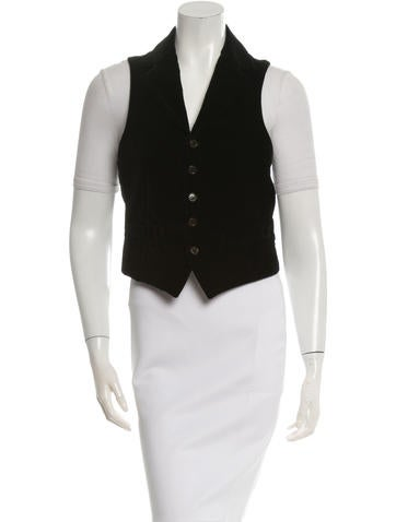 Dolce & Gabbana Notch-Lapel Velvet Vest None