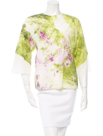 Dolce & Gabbana Floral Print Silk Top w/ Tags None