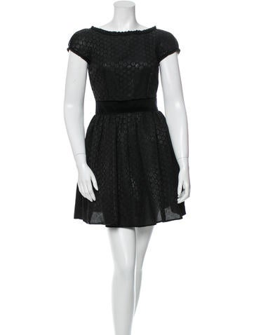 Dolce & Gabbana Silk Polka Dot Mini Dress None