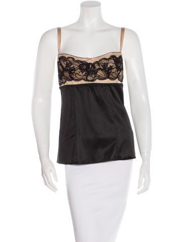 Dolce & Gabbana Silk-Blend Bustier Top None