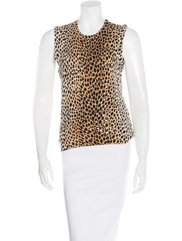 Dolce & Gabbana Sequin-Embellished Cashmere Top None