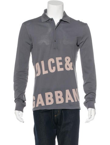 Dolce & Gabbana Logo Longsleeve Polo None