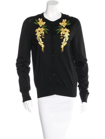 Dolce & Gabbana Embroidered Silk Cardigan None