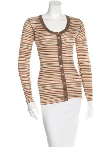 Dolce & Gabbana Striped Rib Knit Cardigan w/ Tags None