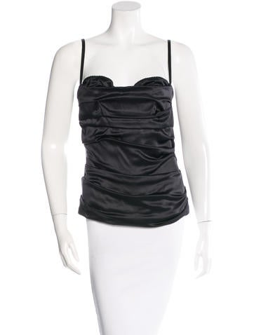 Dolce & Gabbana Ruched Bustier Top None