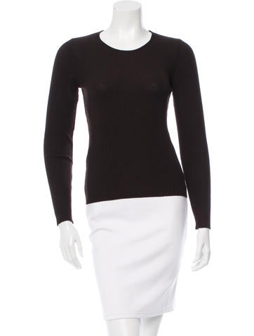 Dolce & Gabbana Long Sleeve Rib Knit Top None