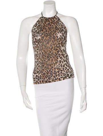 Dolce & Gabbana Leopard Print Halter Top None