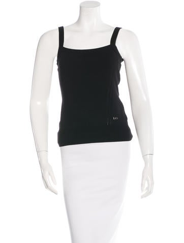 Dolce & Gabbana Sleeveless Square Neck Top None