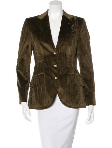Dolce & Gabbana Velvet Notch-Lapel Blazer None